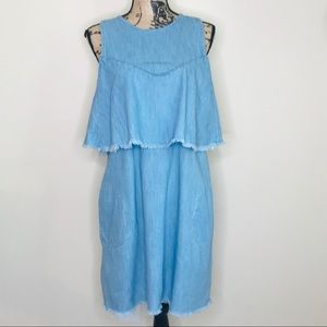 BLANK NYC Denim Tiered Dress (M)